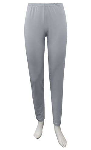 SILVER - Soft knit tapered leg pant