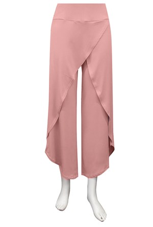 DUSTY PINK - Soft knit skirt front pants