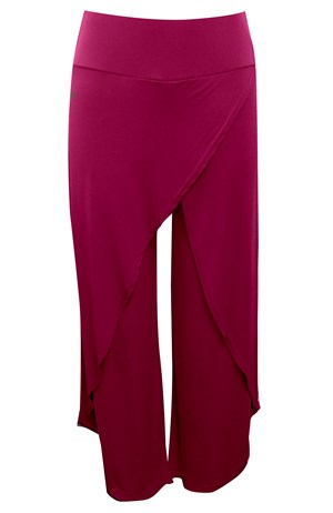 FUCHSIA - Soft knit skirt front pants