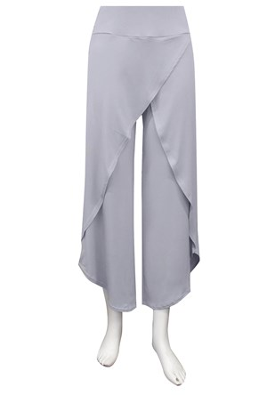 SILVER - Soft knit skirt front pants