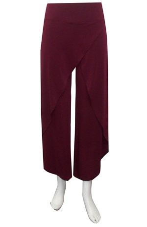 PORT - Soft knit skirt front pants