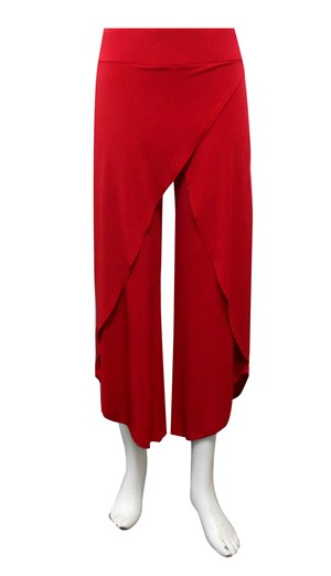 RED - Soft knit skirt front pants