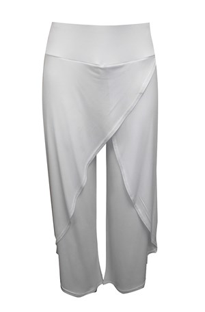 WHITE - Soft knit skirt front pants