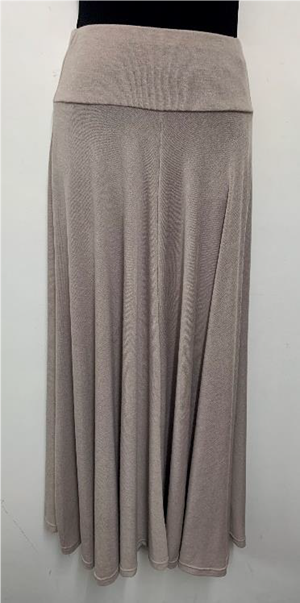 Woolly Knit Skirt BEIGE