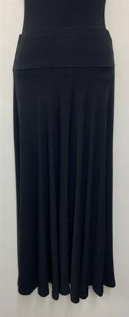 Woolly Knit Skirt BLACK