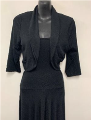 Woolly Knit Shrug BLACK
