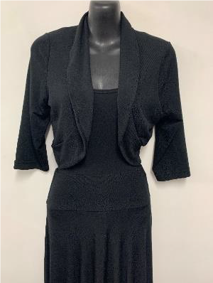 Woolly Knit Shrug BLACK