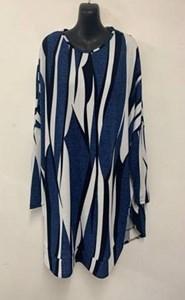 Tania Printed Woolly Knit Jumper BLUE PRINT