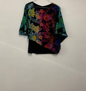 Printed Chiffon Overlay Top BRIGHT MULTI