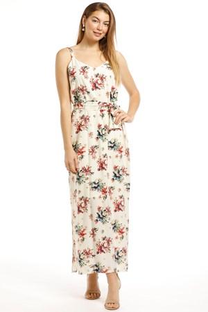 Alexa Heavyweight Chiffon Maxi Dress -Floral