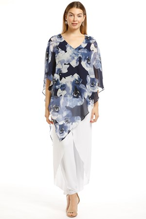 SOLD OUT Ruby Printed Chiffon Overlay Top - Print 233
