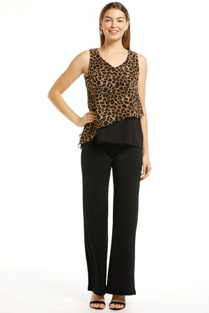 SOLD OUT Robyn Chiffon Overlay Top - Animal