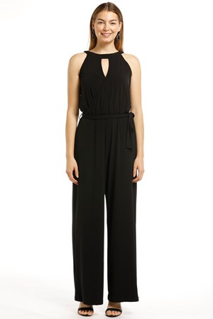 Lisa Soft Knit Jumpsuit With Key Hole Detail