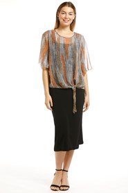 LIMITED STOCK - Beth Chiffon Top with Tie Detail