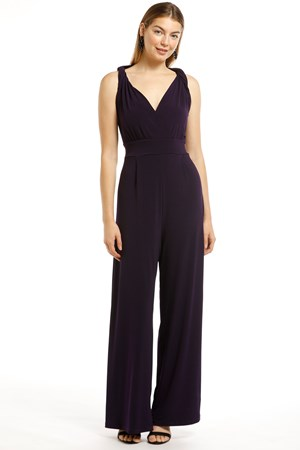 Celine Twist Shoulder Soft Knit Jumpsuit