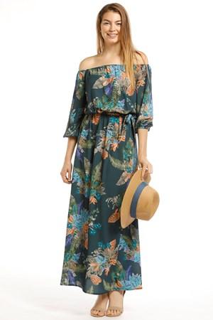 Katrina Crepe Off-The-Shoulder Dress