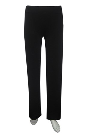 BLACK - Karley soft knit pant with wide leg and wide waist