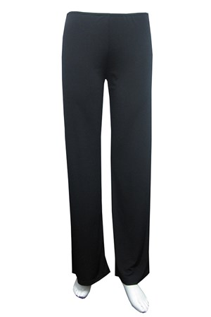 Soft knit pull on straight leg pants