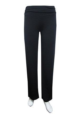 soft knit straight leg pants