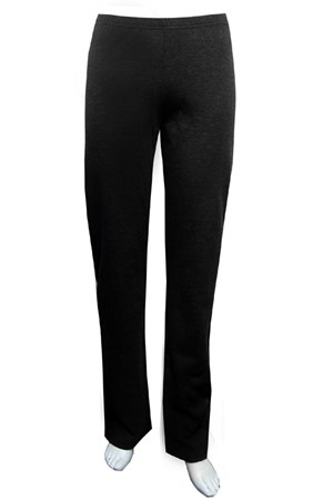 BLACK - Ponti straight leg pull on pant