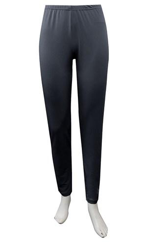 CHARCOAL - Soft knit tapered leg pants