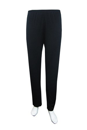 BLACK - Soft knit tapered leg pants