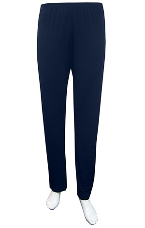 NAVY - Soft knit tapered leg pants