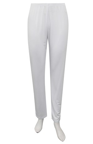 WHITE - Soft knit tapered leg pants