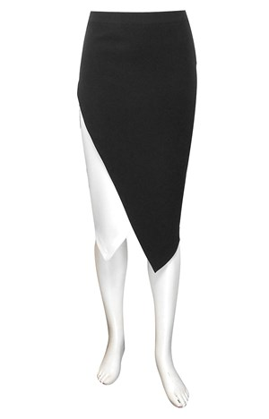Katie asymmetric skirt with contrast underpiece