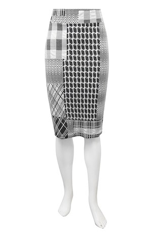 Petra pull on check skirt