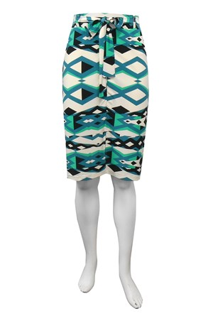 Chloe printed skirt with front split