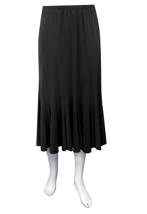 BLACK - Paula soft knit skirt
