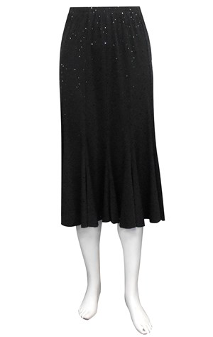 BLACK - Sparkle 12 gore soft knit skirt