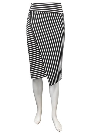 LIMITED STOCK - Jojo stripe ponti skirt