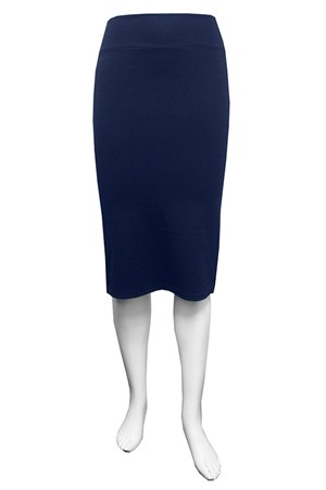 Ponti knee length skirt.
