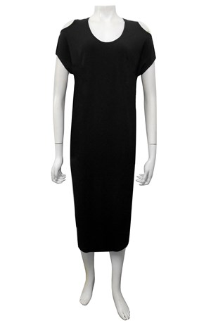 COMING AGAIN SOON - BLACK - Donna cut out round hem dress