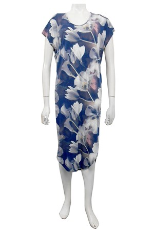 PRINT 545 - Donna cut out round hem dress