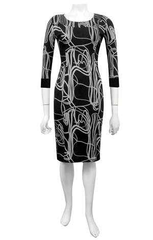 Ricky fitted ponti dress with neckband