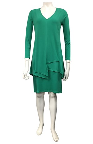 GRASS - Tiana soft knit overlay dress