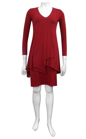 FLAMINGO - Tiana soft knit overlay dress