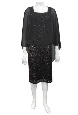 Louise sequinned lace dress