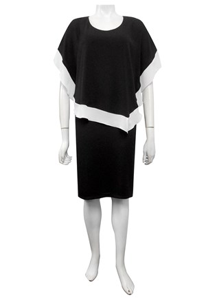 BLACK/WHITE - Penelope contrast woven dress