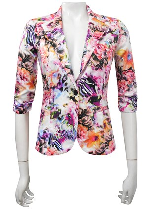 SATEEN PRINT 24 - Mika printed sateen jacket