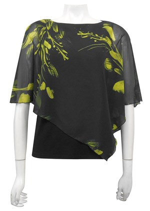 LIMITED STOCK - CHIFFON PRINT 130 - Print chiffon 2 in 1 top