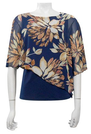 LIMITED STOCK - CHIFFON PRINT 136 - Print chiffon 2 in 1 top