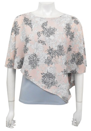 LIMITED STOCK - CHIFFON PRINT 66 - Print chiffon 2 in 1 top
