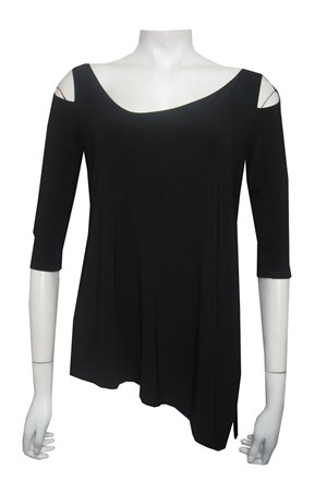 CLICK TO SEE COLOURS - Selina angled soft knit top