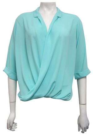 LIMITED STOCK - MINT - Shellie loose turn up shirt