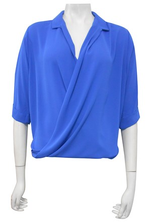 LIMITED STOCK - ROYAL - Shellie loose turn up shirt