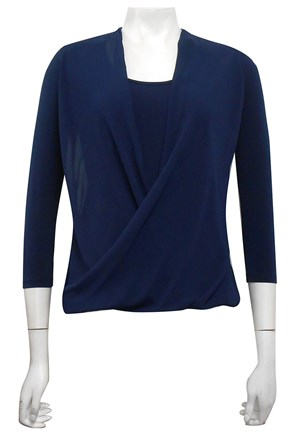 CLICK TO SEE COLOURS AVAILABLE - Jemma soft knit and chiffon top